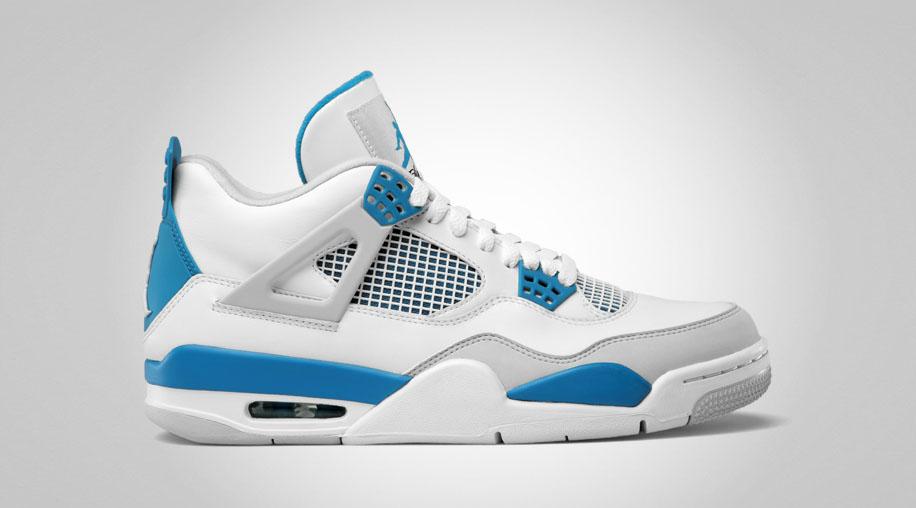 1989 Air Jordans Bleu Blanc