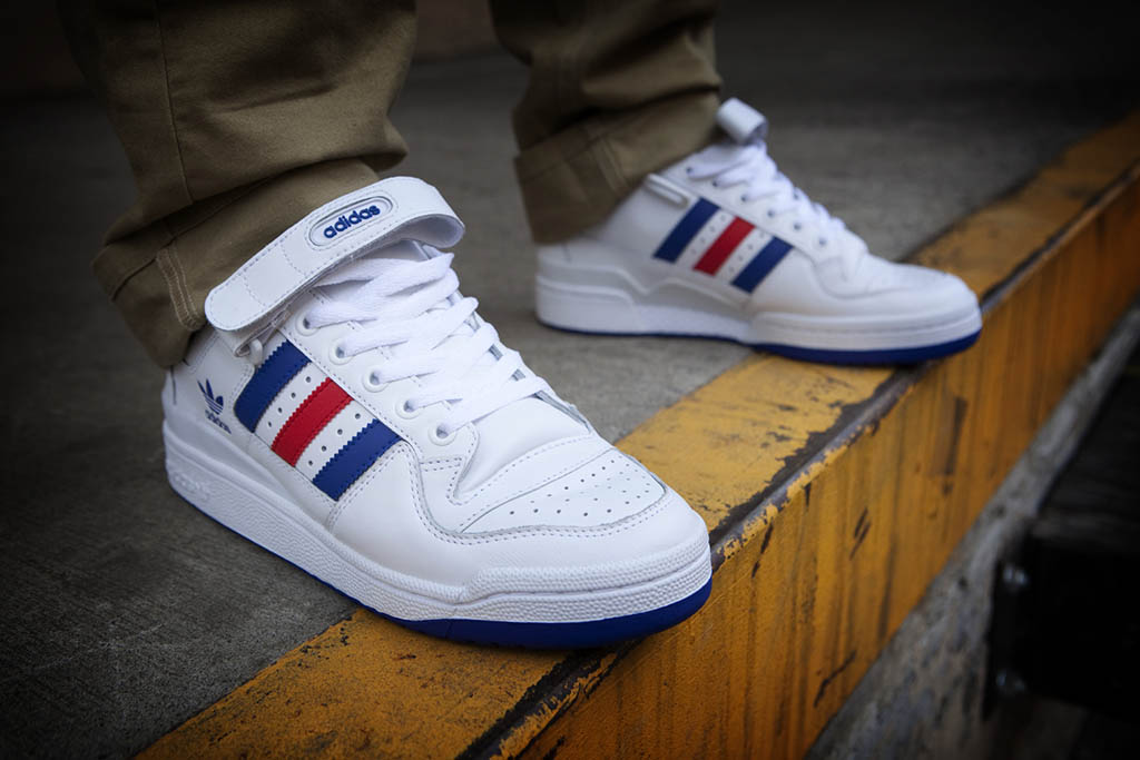 2958d524813 adidas Originals Forum Low RS Leather White Red Blue (3)