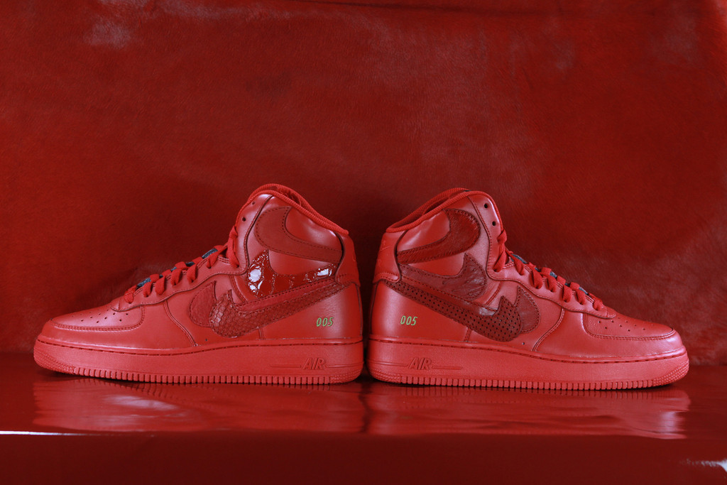 4b4fbd931f6 Nike Air Force 1 High Red Misplaced Checks by John Geiger   The Shoe  Surgeon (