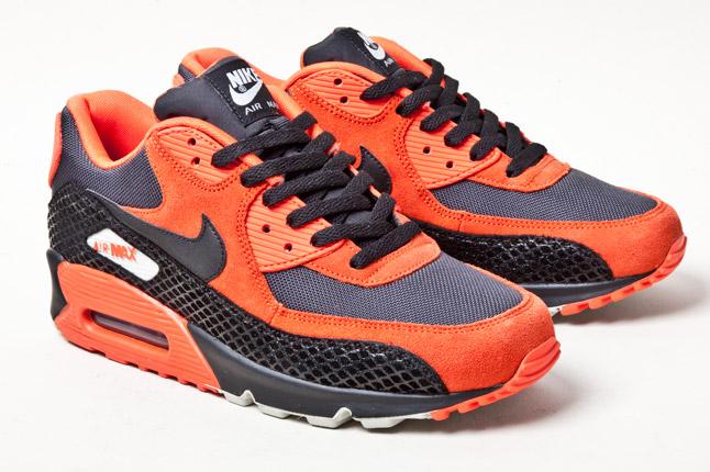 nike air max 90 black and orange