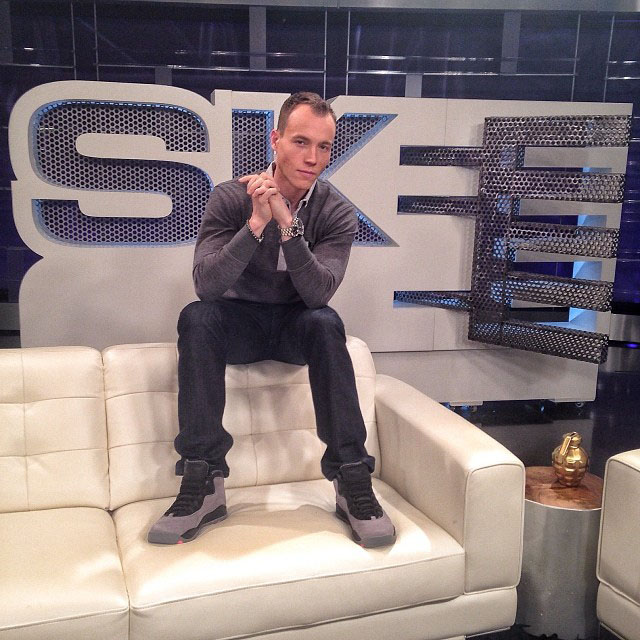 DJ Skee wearing Air Jordan 10 Cool Grey