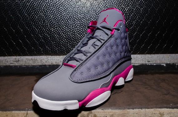 Air Jordan Retro 13 Grey And Pink