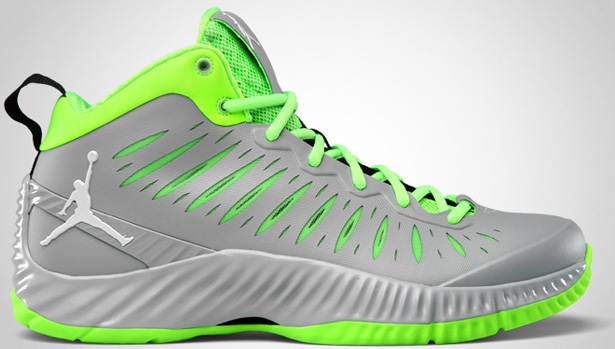 Jordan Super Fly Wolf Grey/White-Electric Green-Black