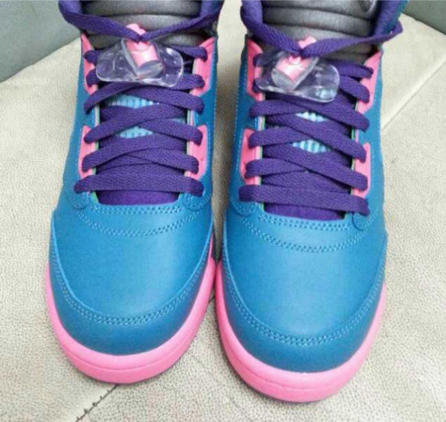 Air Jordan 5 Blue Pink