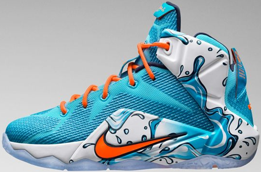 Nike LeBron 12 GS Clearwater/Blue Lagoon-Midnight Navy-Total Orange