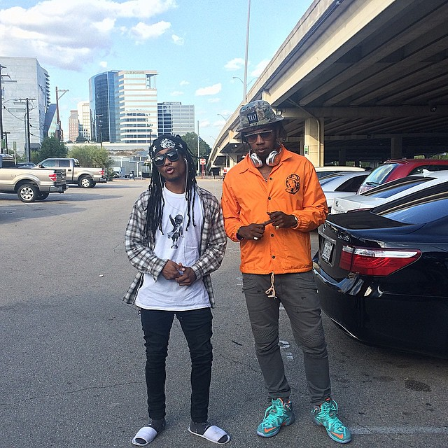Trinidad James wearing Nike LeBron XII 12 NSRL
