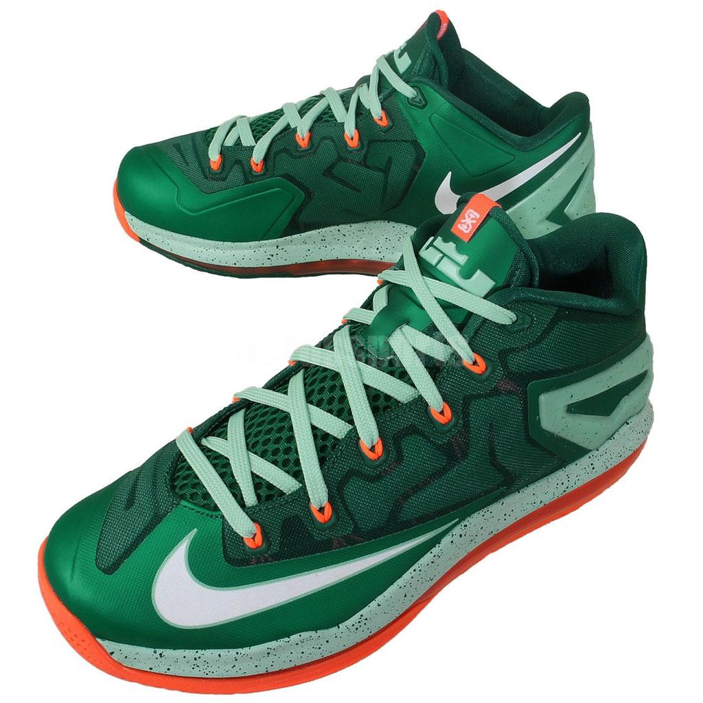 83fb3dbb016b Nike LeBron XI 11 Low Biscayne Mystic Green 642849-313 (8)
