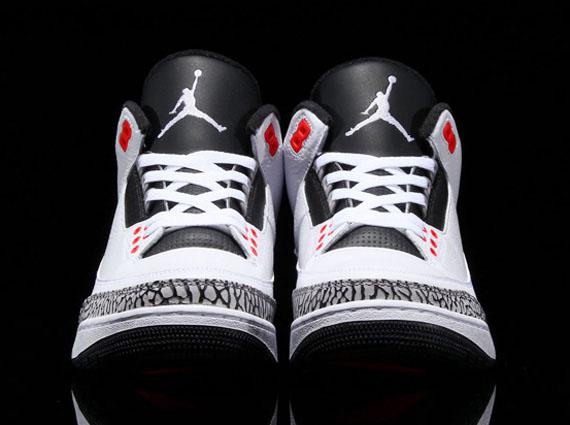 Air Jordan 3 Retro White Black-Infrared 136064-123 (3) 50e8b0cd1