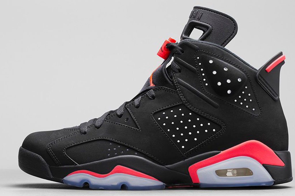 Air Jordan VI 6 Retro Mens Shoes Black Red