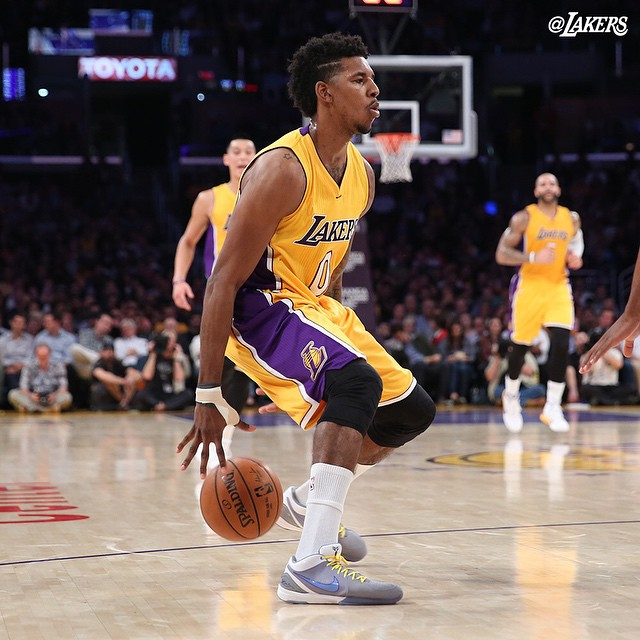 05577ddf5f4c SoleWatch  Nick Young Brings Back the Nike Kobe 4