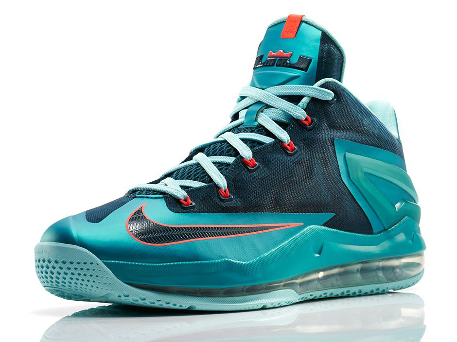 d02a1f13a3800 Nike Air Max LeBron XI 11 Low Turbo Green Official 642849-300 (2)