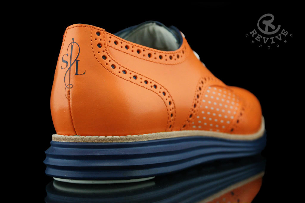 "Cole Haan LunarGrand Wingtip ""Knicks Orange"" for Spike Lee by Revive Customs (3)"