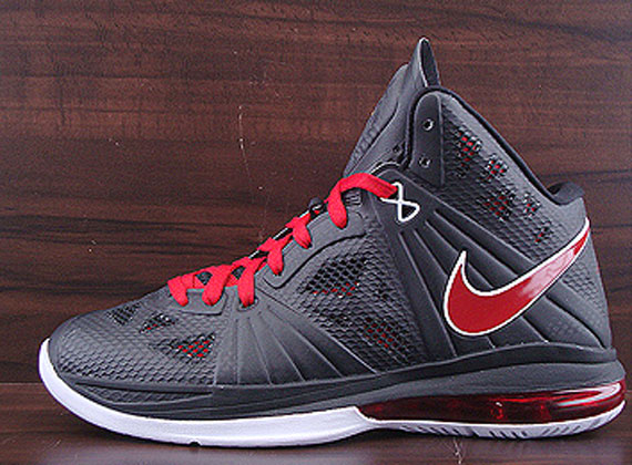 Nike LeBron 8 P.S. Black Sport Red