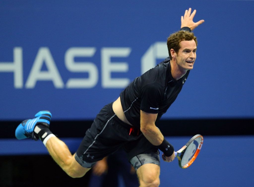 Andy Murray Wearing the adidas Barricade 8 at the US Open