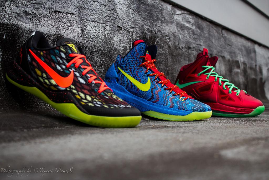 sports shoes 54f88 b0019 Nike Basketball Christmas Pack - Kobe 8 System, KD V   LeBron X