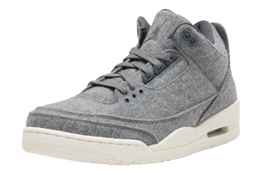 Wool Air Jordan 3 854263-004 Left Shoe