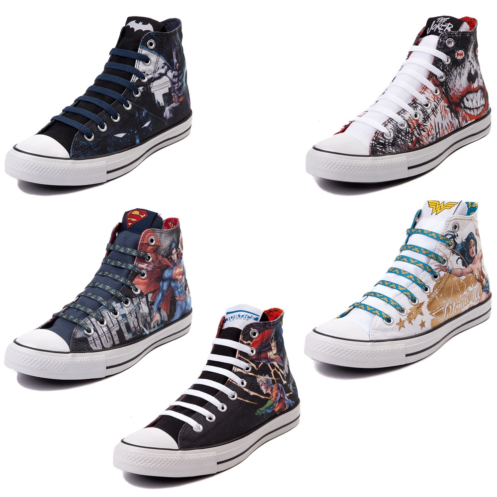b149c3eba786 ... Chuck Taylor All Star Collection. Converse and DC Comics are back with  their latest footwear collection