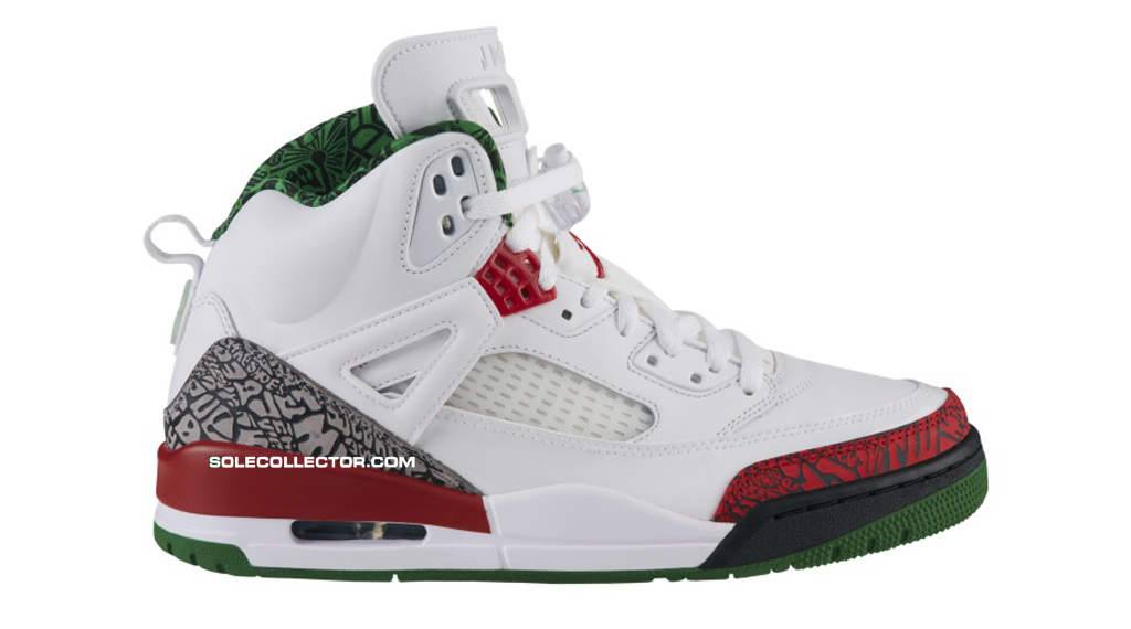 Air Jordan Spizike Black Green Red