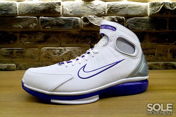 e10865743a13 Nike Air Zoom Huarache 2K4 White Metallic Silver Pro Purple 511425-115 (1)