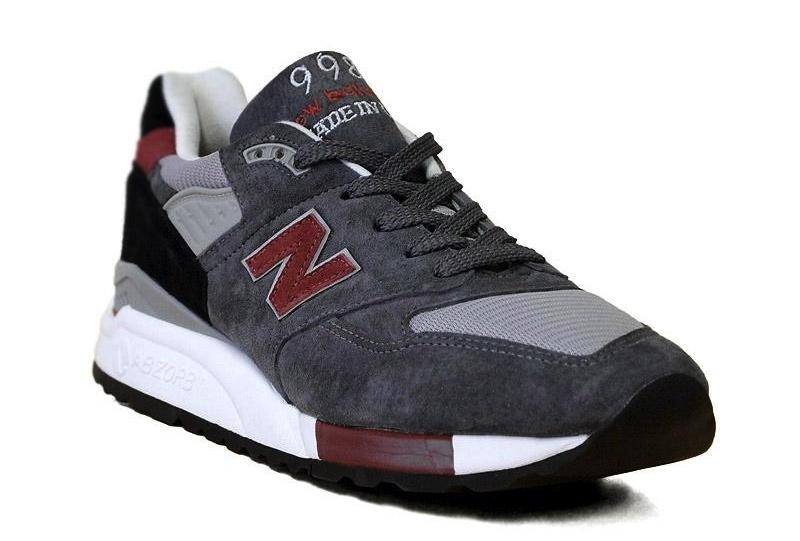 new balance 998 grey red