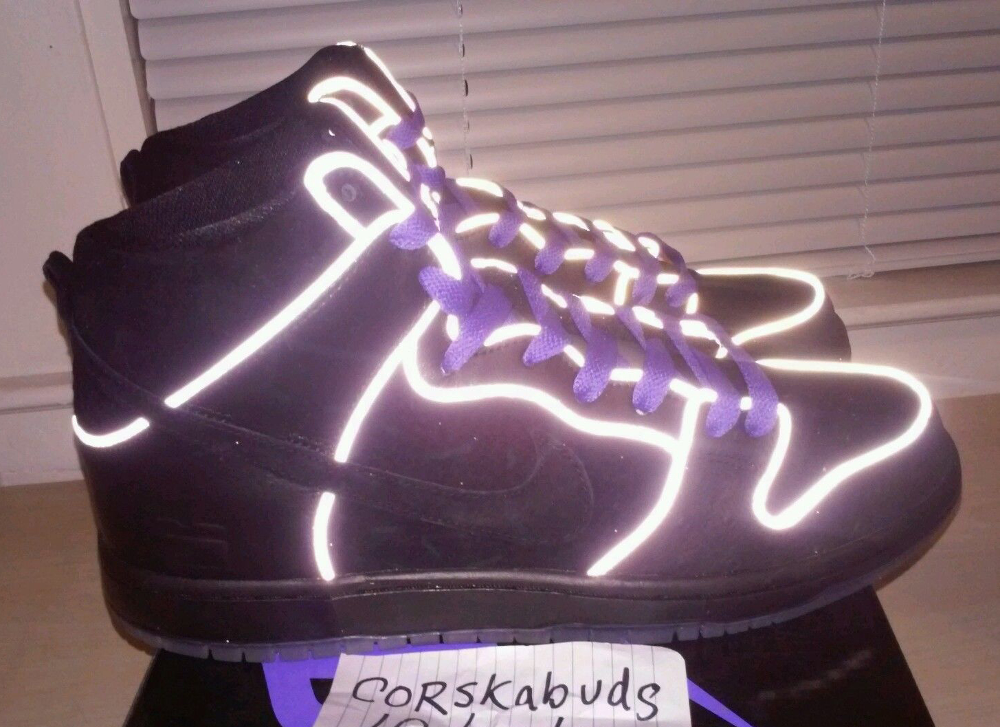 Nike SB Dunk High Purple Box 3M