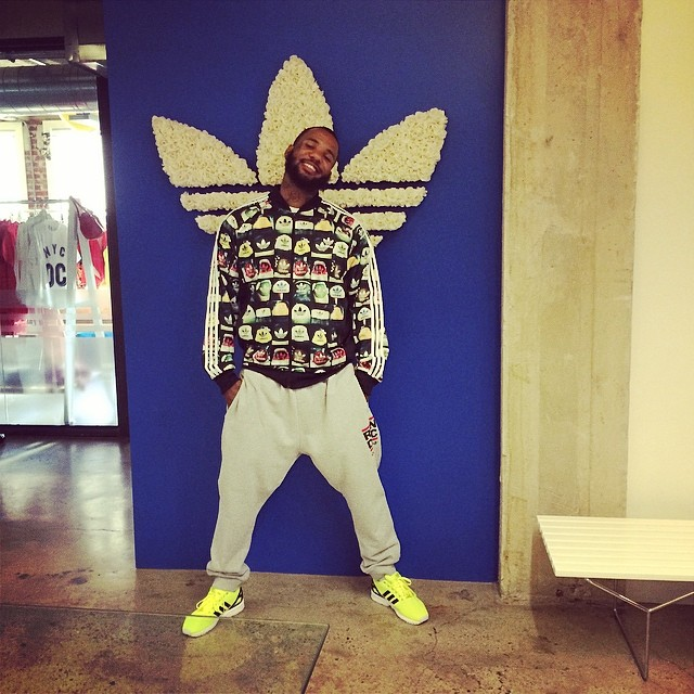 The Game wearing adidas ZX Flux