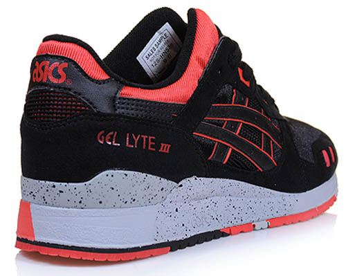 ASICS GEL-Lyte III - Black/Infrared/Cement 5
