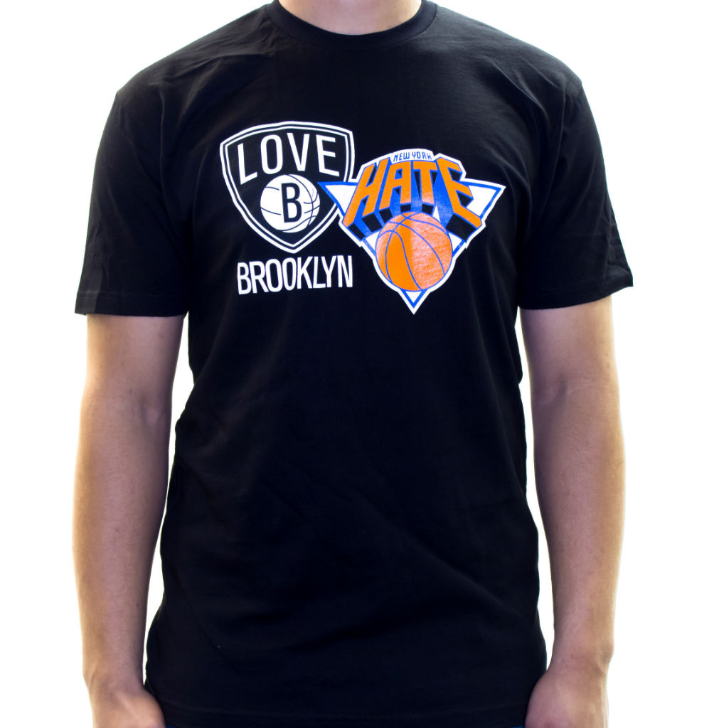 Where Brooklyn At Love/Hate Knicks Nets T-Shirt (4)