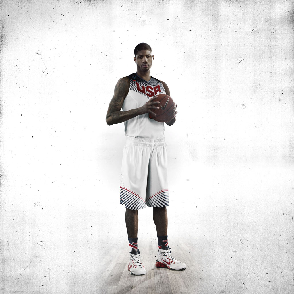 Nike Basketball Unveils 2014 USA Basketball Uniforms - Paul George (1)