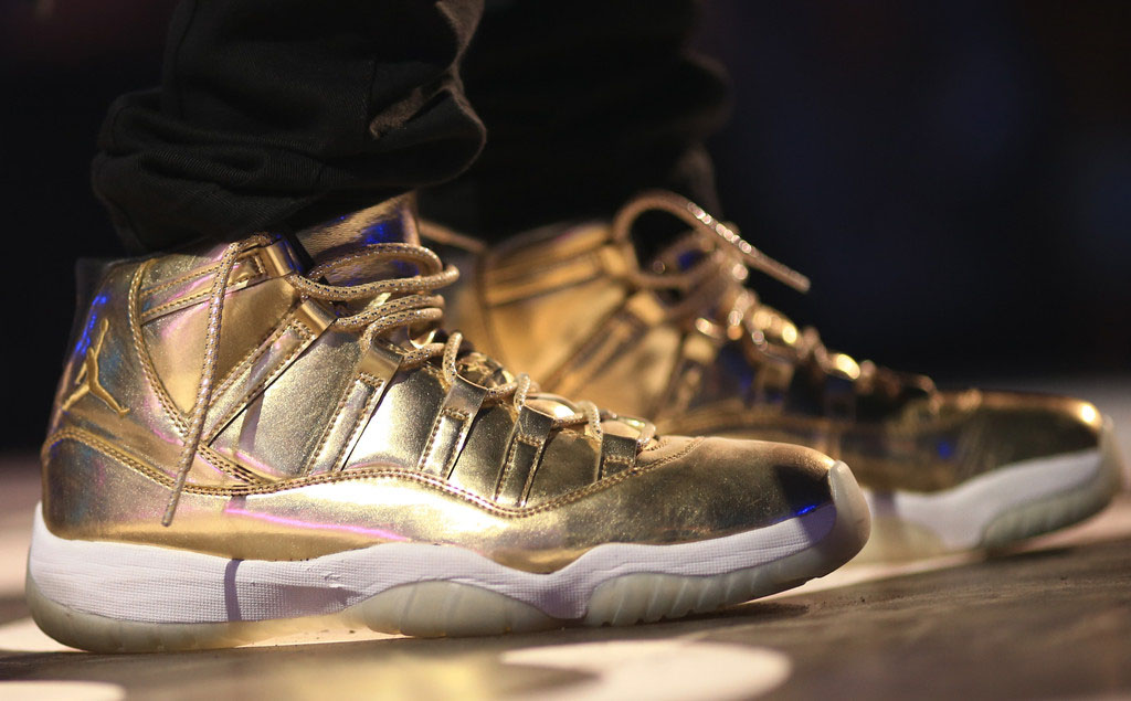 Air Jordan XI 11 Gold Usher Sample