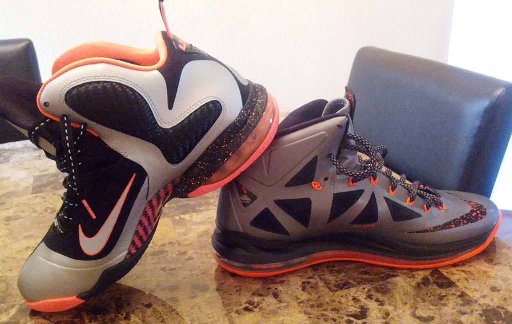 Nike LeBron X 10 Silver Black Orange Mango (20)