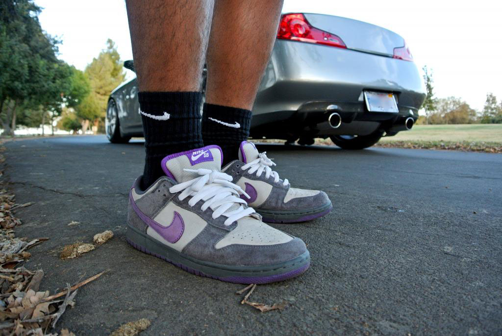 illestMF in the 'Purple Pigeon' Nike Dunk Low SB