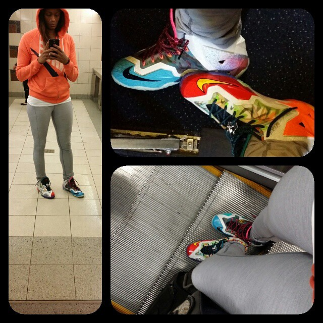 Swin Cash wearing Nike LeBron XI 11 What The b1554e0b66