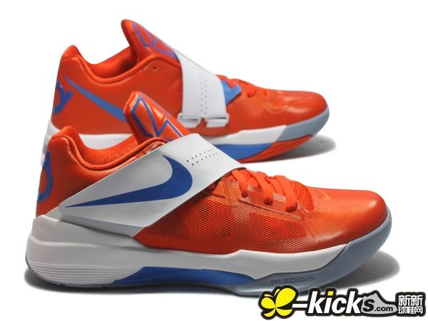 42abecba9c68 Nike Zoom KD IV Team Orange Photo Blue White 473679-800 (4)