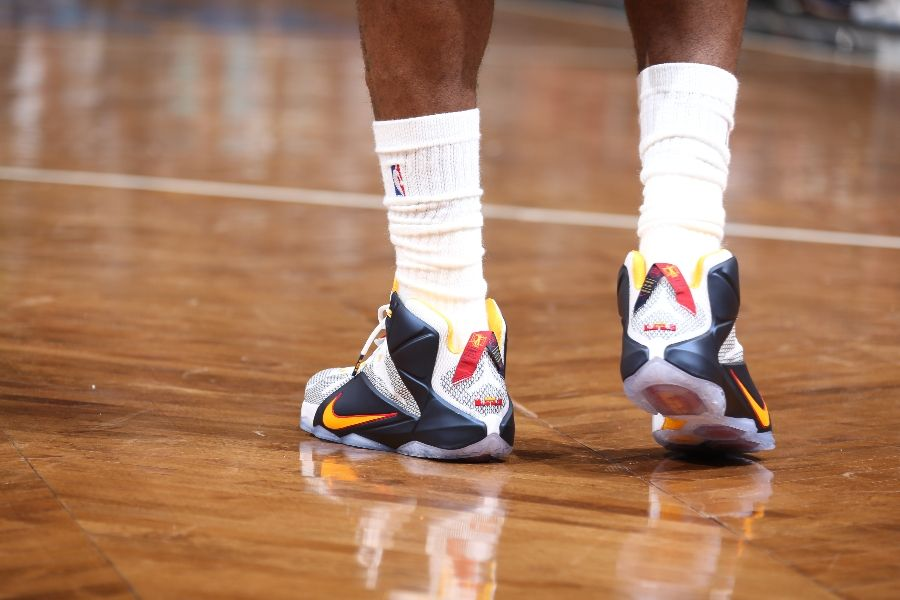 c51c2bfc01f SoleWatch  LeBron James Wears a New  Cavs  Nike LeBron 12 PE in ...