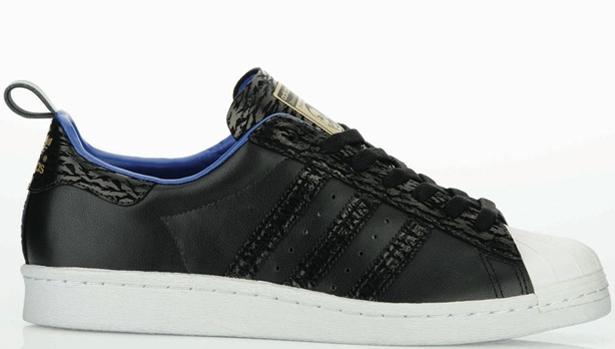 adidas Originals Superstar 80s Black/Black-Metallic Gold
