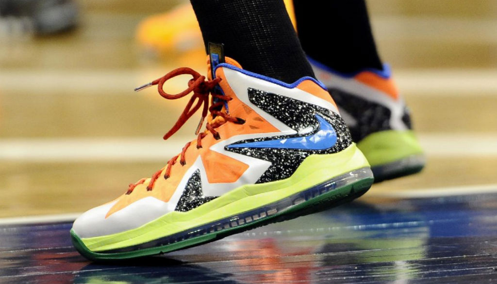 Diana Taurasi wearing Nike LeBron X PS Elite All-Star PE