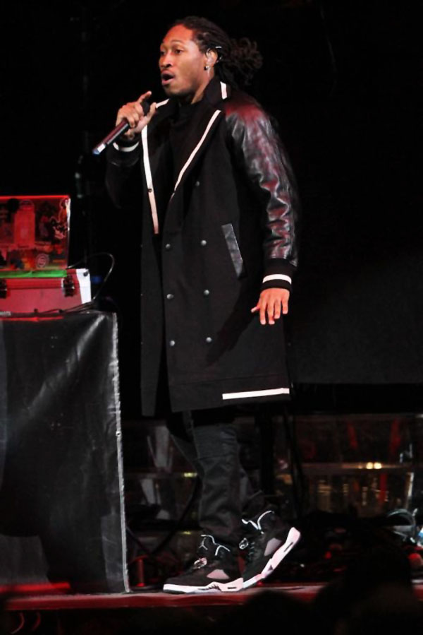 Future wearing Air Jordan 5 Retro Oreo