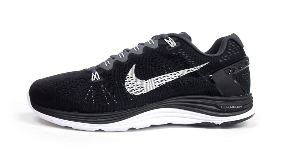 Nike Lunarglide+ 5 Black White Dark Grey