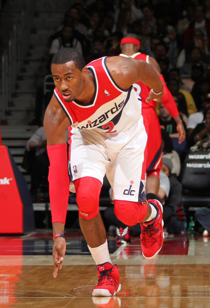 John Wall wearing adidas Top Ten 2000 Red Navy (7)