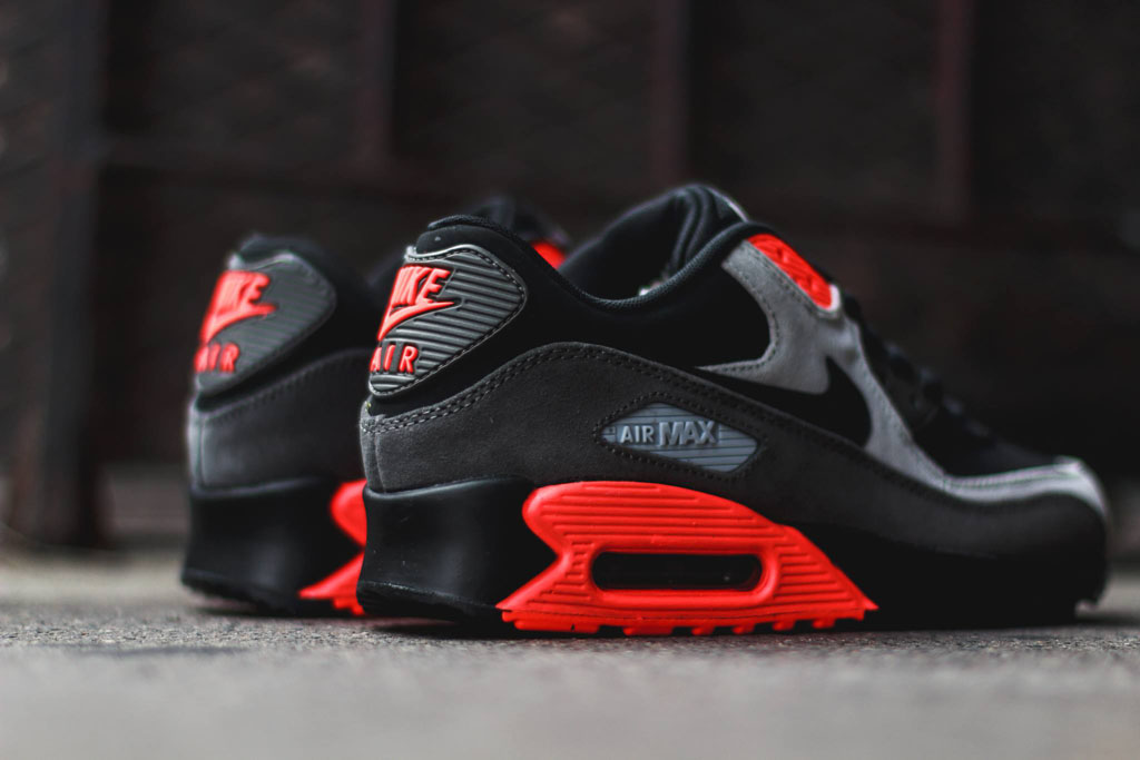 Nike Air Max 90 Leather Total Crimson 666578-003 (3)