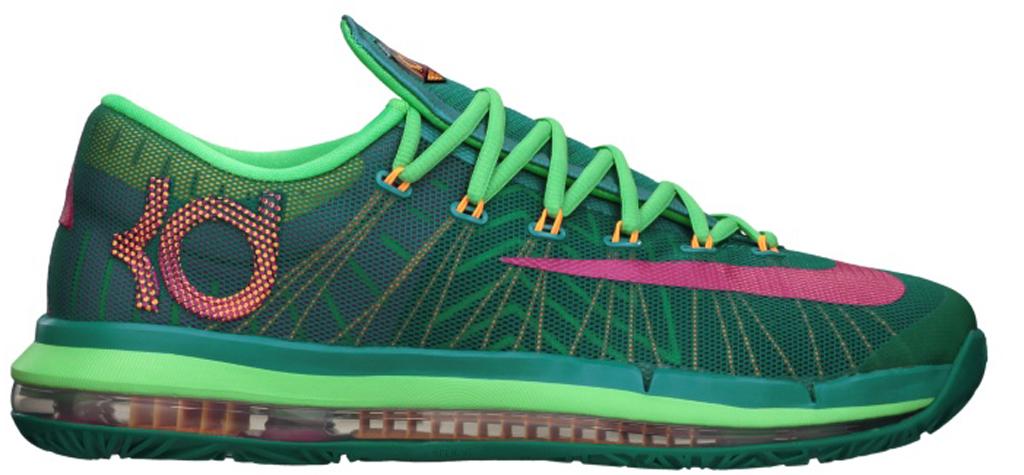 Nike KD VI Elite \u0026#39;Hero\u0026#39; 642838-300 Turbo Green/Vivid Pink-Night Shade