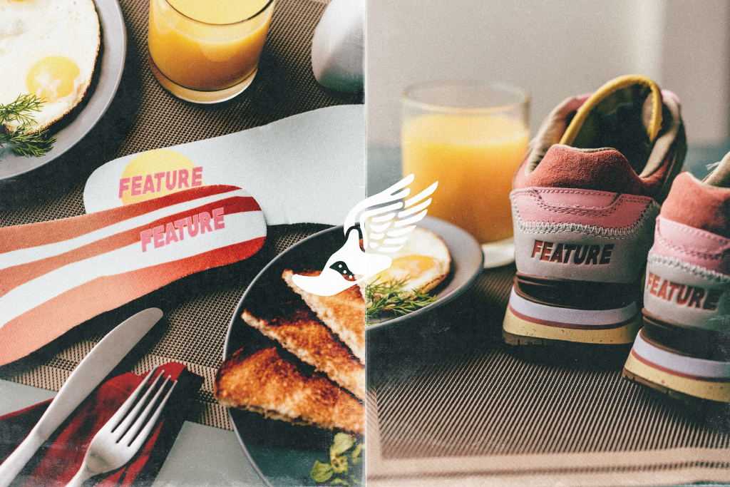 Feature Saucony Bacon and Eggs Heel