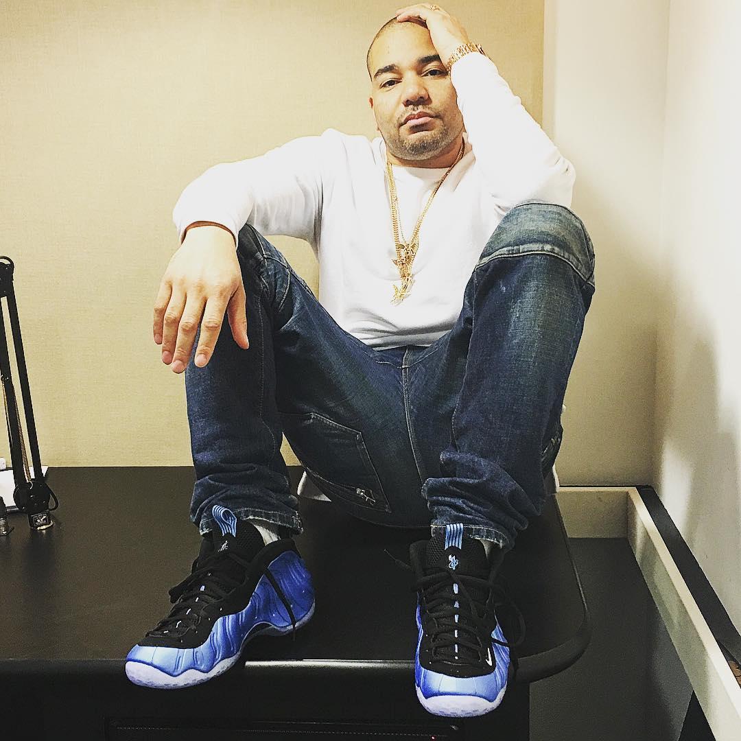 DJ Envy Wearing the  University Blue  Nike Air Foamposite One 304415c161