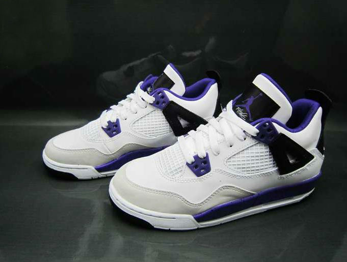 Air Jordan IV 4 GS White Ultraviolet Black 487724-108 (!)