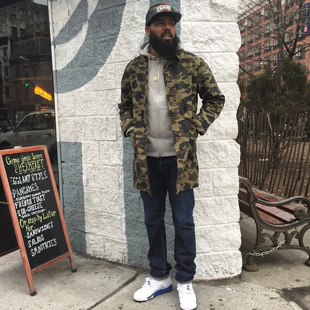 authentic stalley rocking air jordan 9 cool grey sneakers a0cf1 719f2  shop stalley  wearing the laney air jordan v 5 1192d 49028 53474554c