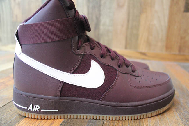 nike air force burgundy