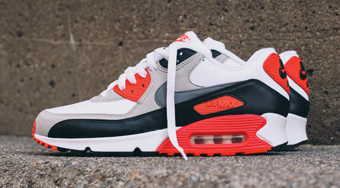 new style 543cd bc32f Your Best Look Yet at the 2015  Infrared  Air Max 90s   Sole Collector