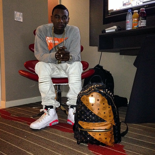 Soulja Boy wearing Air Jordan VI 6 White Infrared 3f5bf5c83a