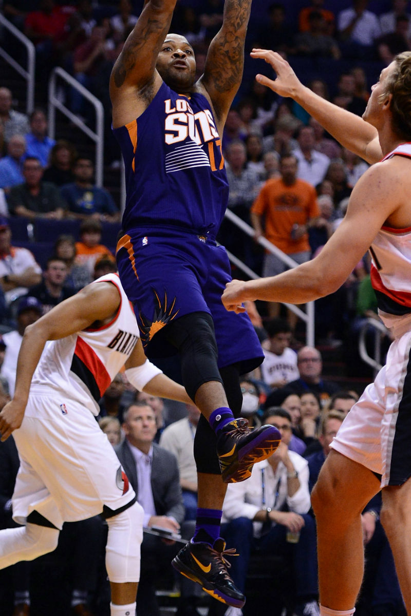 06837f8f1080 ... good p.j. tucker wears the purple haze nike kobe 4 pe 7c0f5 583b3 ...